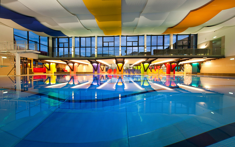 lovely cool indoor pools with slides